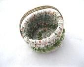 BRACELET COLLECTION  textile art flower girl OR small storage Basket Number Eleven