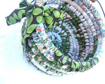 OLIVE GROVE Textile art Basket  Bucket