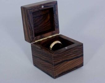 ziricote ring box