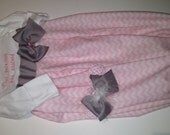 newborn infant pink custom layette gown chevron princess has arrived bow band set infant  pictures party pictures home girly hospital ruffle