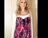 Heart Shaped Silk and Jersey Knit Top XS/S