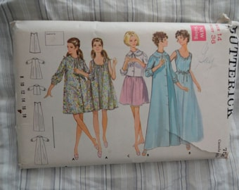 Vintage Butterick 5534 Misses Nightgown Robe and Jacket Lingerie Sewing Pattern size 14 B36 UNCUT
