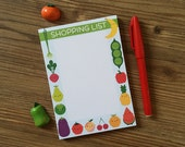 Magnetic Shopping List Pad - 5 A Day