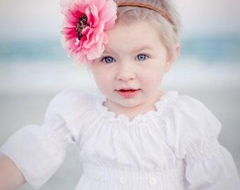 White baby girl dress blessing christening baptism portrait