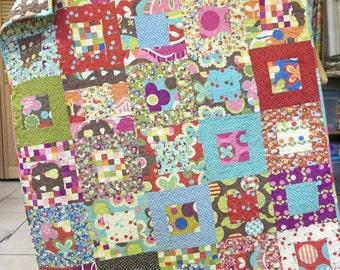 Modern Baby Quilt Avant Garden Girl Nursery Bedding