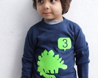 Birthday T shirt Dinosaur