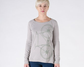 FIXIE SHIRT LARGE Women's Fixie Long Sleeve Pullover Dove Grey- L