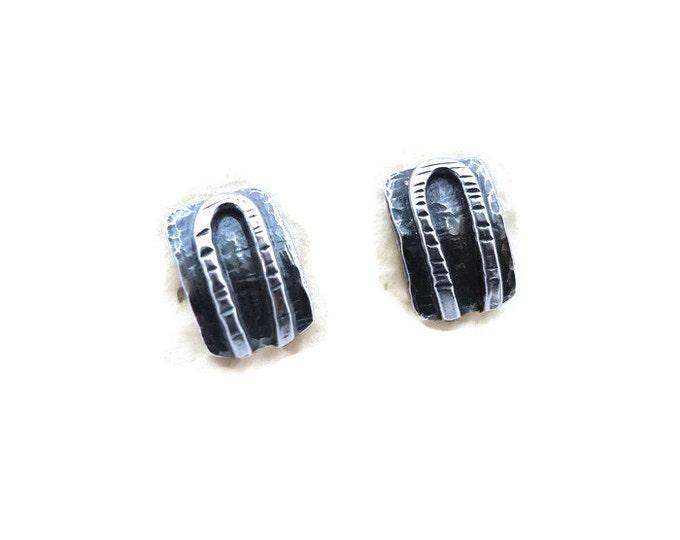 Horseshoe Sterling Silver Post Earrings