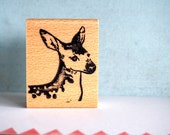 Deer Rosie - rubberstamp - 40x50mm