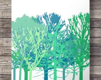 Trees Printable wall art  - 16x20 / 8x10 Instant download digital print