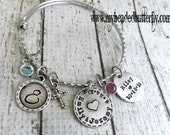 personalized bangle-personalized bracelet-personalized expandable bracelet-bangle- FAMILY BRACELET-bracelet-personalized  bangle-mommy gift