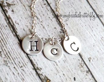 personalized necklace-initial jewelry-Mommy necklace-sterling silver necklace- Initial necklace-charm necklace-personalized jewelry