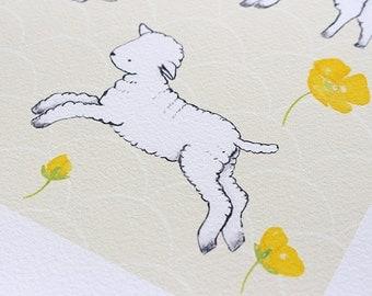 Art Print - Lambs at Play