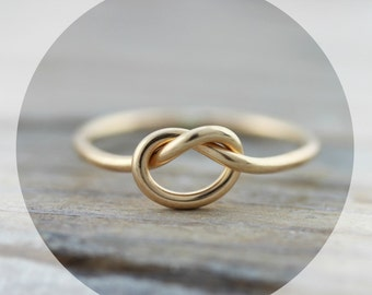 Knot ring - 16 gauge gold filled ring