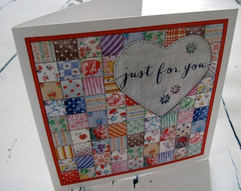 Patchwork square card