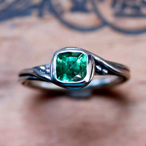 emerald engagement ring engagement ring silver ethical