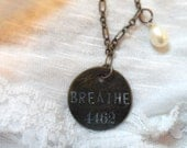 Just Breathe handmade necklace Pearl Jam
