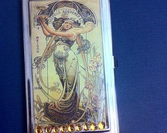 Retro 1864 Theophile Roederer Champagne Business Card Holder Credit Card Case