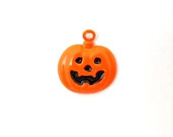 Enamel Pumpkin Charms (10X) (E589)