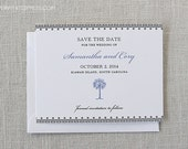 Palm Tree Save the Date, Beach Wedding, Deposit to Get Started