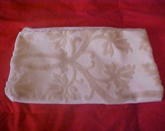 Vintage LARGE Clutch - Purse - Makeup Bag - Ivory - Champagne - Excellent Condition - Never Used!