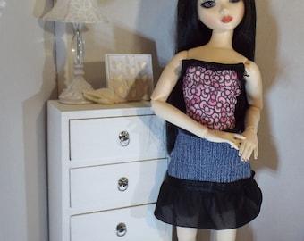 Pink Bows Bodysuit--16: Fashion Dolls