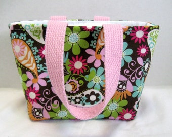 Paisley Mini Purse - Tiny Paisley Tote - Bright Tote Bag - Small Fabric Gift Bag
