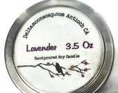 Lavender Soy Candle, travel candle, reusable tin, fragrant gift, clean burning, cotton wicks, vegan candle, hand poured,Lavender Oil