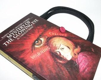 Book Purse Nancy Drew Mystery of The Glowing Eye Handbag Upcycled Book Bag Trendy Vintage Book Purse