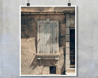 Provence Photography- pale blue shutters door old house shabby chic print wall art home decor 10x8 11x14 20x16