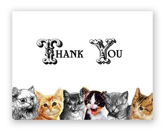 Thank You Cats Note Card