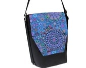 Convertible Backpack - Sling Purse - Shoulder Bag - iPad Purse - REMOVABLE FLAP - Murano Glass Fabric