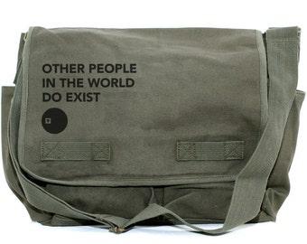 SALE Messenger Bag, Other People, Laptop Messenger Bag, Crossbody Canvas Bag, Typography, Camera Bag, Men Messenger, Women Messenger Bag