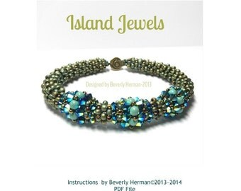 Island Jewels Bracelet (Cubic Right Angle Weave)