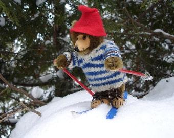 Photographic Art Print - Downhill Ski Bear