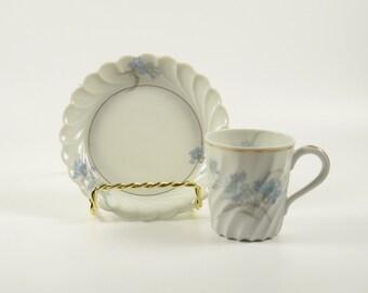 ON SALE!  Vintage Haviland Limoges Bergere France Demitasse Chocolate Teacup Tea Cup Saucer Floral