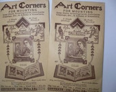 Two Packs of Vintage 1928 Art Corners for Mounting Photos in Albums  100 pieces in each pack