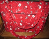 Wisconsin Badgers Quilted Tote Bag 12