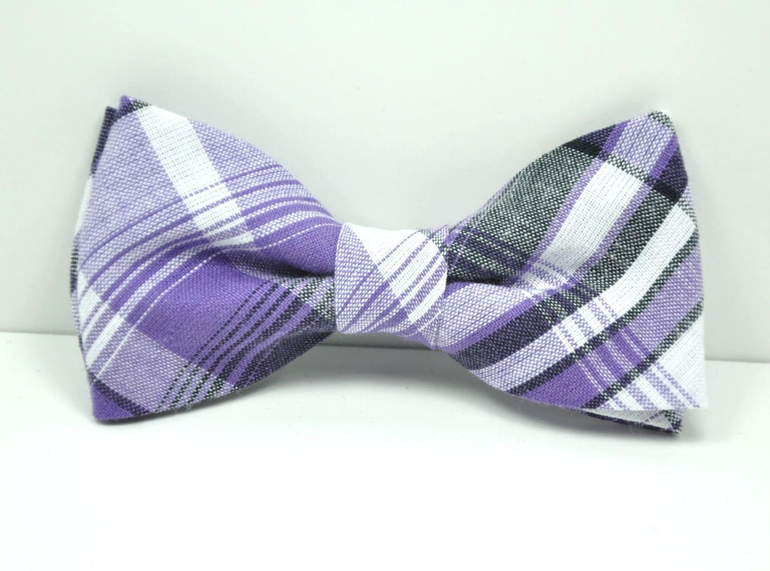 purple and gray plaid boy s bow tie toddler bowtie baby