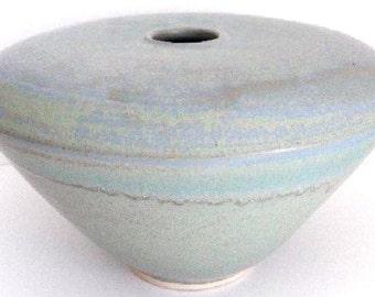 Vase - Flat Top - MXRB Glaze