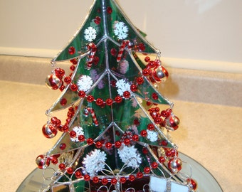 Stained Glass Christmas Tree with Presents and Mirror I discounted to----