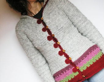 Loup hooded cardigan - Easy crochet pattern ladies sizes XS to XL -  elf hood