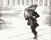 ORIGINAL Sketch Drawing - Rainstorm Series #3