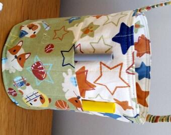 Creative Kids Art Bucket - All Star Pups - Puppies Football Baseball - Fabric Basket Organizer Easter Basket