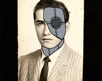 Altered Vintage Photograph-Cyborg Yearbook