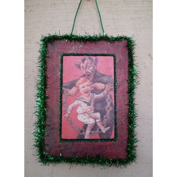 Christmas decoration tree ornament Krampus Yule devil vintage style holiday home decor