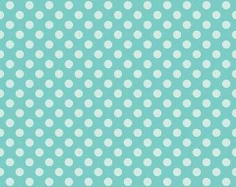 Simply Sweet Blue/Aqua Dot by Riley Blake - 1 yard