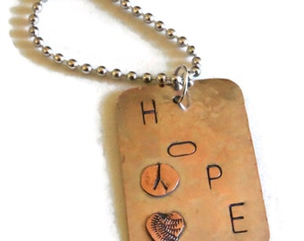 stamped dogtag or key chain pendant