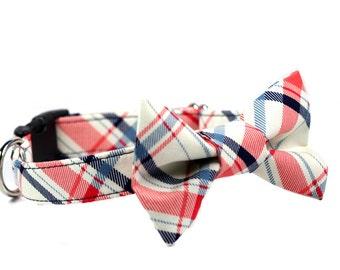 Bow Tie Dog Collar - Funday Tartan Bowtie Collar