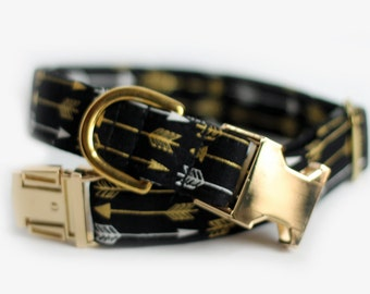 Arrows dog collar, Personalized collar available, Engraved Dog Collar, Tribal Collar - Arrows in Brass, Personalization Available